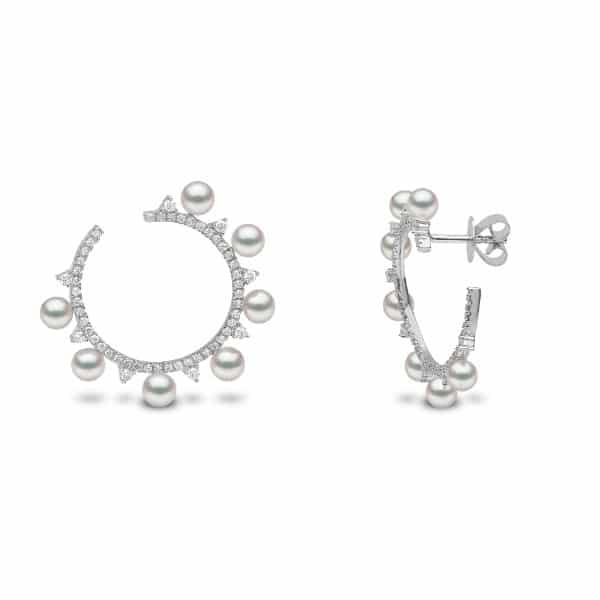 Japanese Akoya Pearl and Diamond Earrings